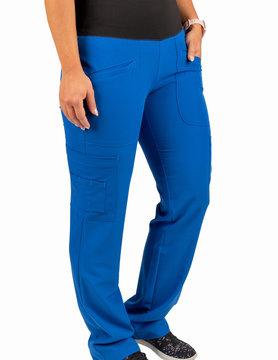 Excel Royal Blue Women's Yoga Waistband Scrub Pants 985
