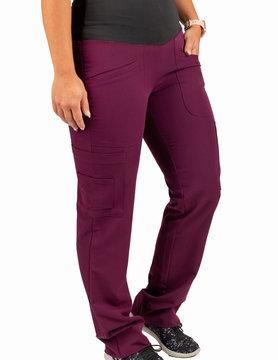 Excel Burgundy Women's Yoga Waistband Scrub Pants 985