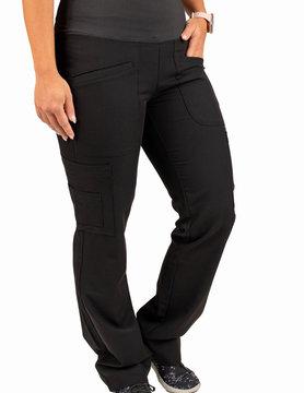 Excel Black Women's Petite Yoga Waistband Scrub Pants 985P