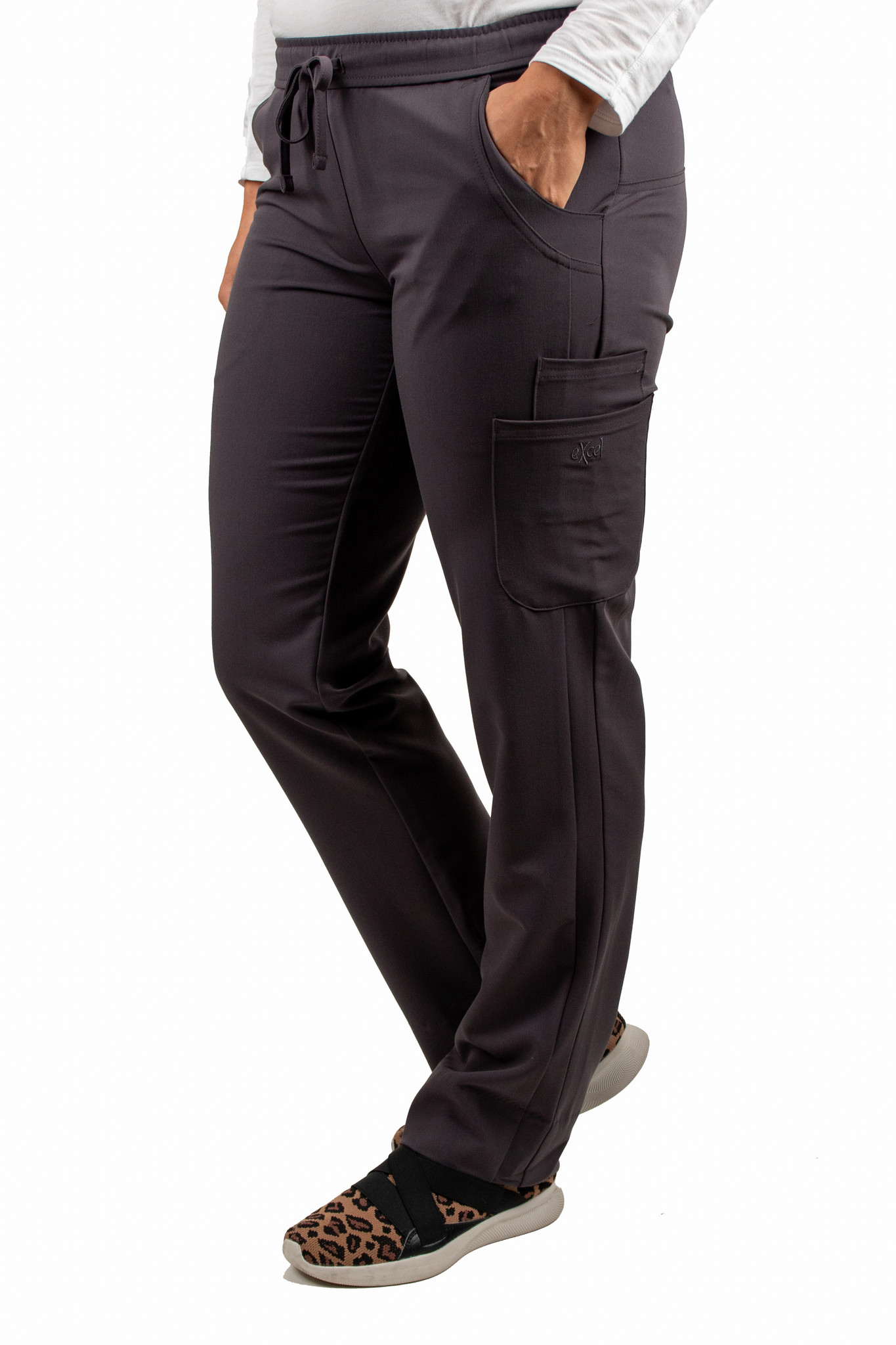 Carbon Women's Drawstring Waistband Fitted Pants 960