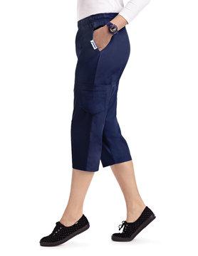 MOBB Navy Blue Women's Capri Pants 314P