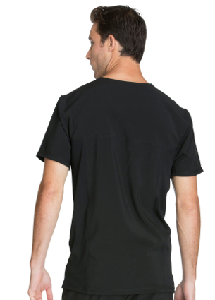 CHEROKEE Black Infinity Men's V-Neck Top CK900A