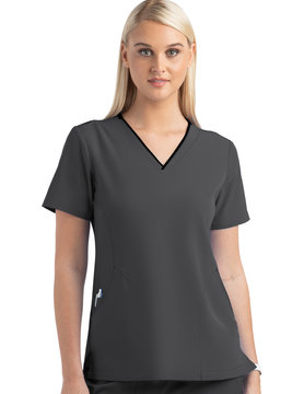 MATRIX IMPULSE Pewter Grey Matrix Impulse Women's Tops 4510