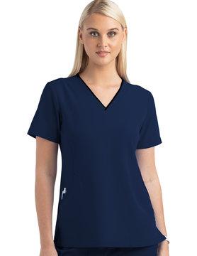 MATRIX IMPULSE Matrix Impulse Navy Blue Women's Scrub Top 4510