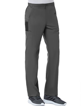 Charcoal Men's Half Elastic 8-Pocket Tall Cargo Pants 8308T