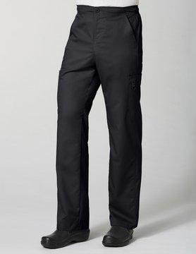 Eon Black Men's Half Elastic 8-Pocket Tall Cargo Scrub Pants 8308T