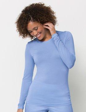 Coolmax Ciel Blue Long Sleeve Under Scrub Tee 6709