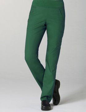 Eon Hunter Green Pure Yoga 7-Pocket Women's Scrub Pants 7338