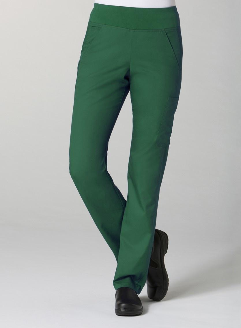 Hunter Green Pure Yoga 7-Pocket Women's Scrub Pants 7338