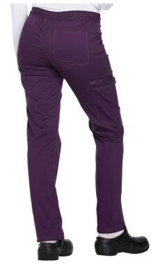 DICKIES Eggplant Mid Rise Straight Leg Women's Drawstring Pants DK106