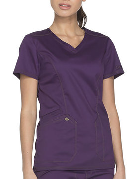DICKIES Eggplant Essence V-Neck Women's Top DK803