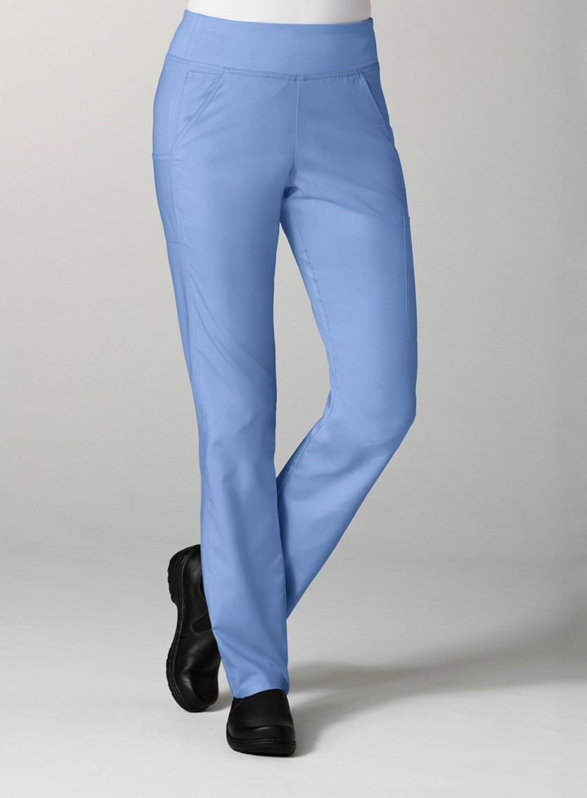 Ciel Blue Pure Yoga 7-Pocket Women's Scrub Pants 7338