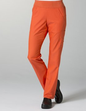 Cherry Red Pure Yoga 7-Pocket Women's Scrub Pants 7338