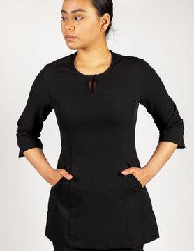 Excel Women's Black 3/4 Sleeves Spa Jacket 185