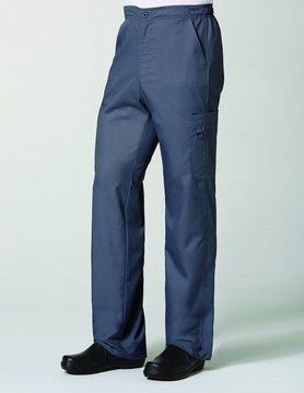 Eon Charcoal Men's Half Elastic 8-Pocket Cargo Scrub Pants 8308