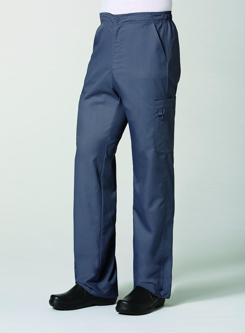 Charcoal Men's Half Elastic 8-Pocket Cargo Pants 8308