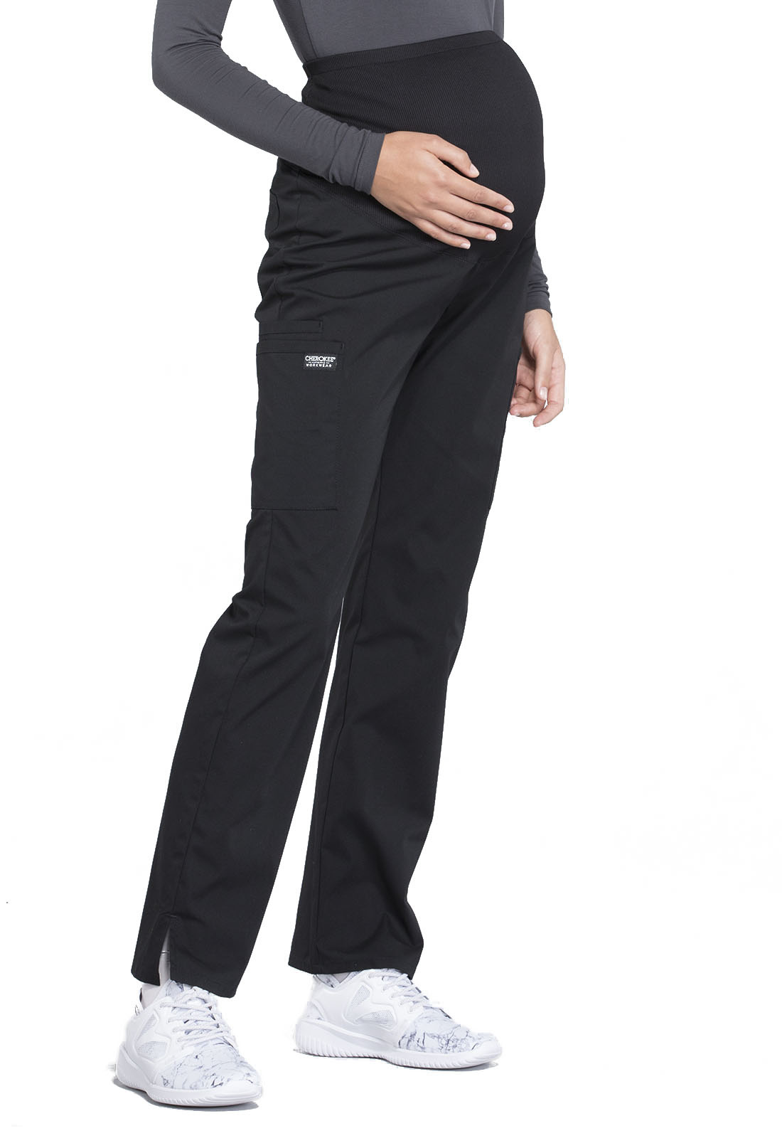 CHEROKEE WORKWEAR Black Maternity Pants 4208