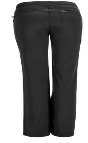 CHEROKEE Black Low Rise Straight Leg Women's Drawstring Petite Pants 1123AP