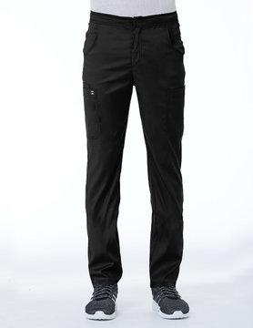 Matrix Men's Matrix Black Men's Half Elastic Waistband Cargo Scrub Pants 8502