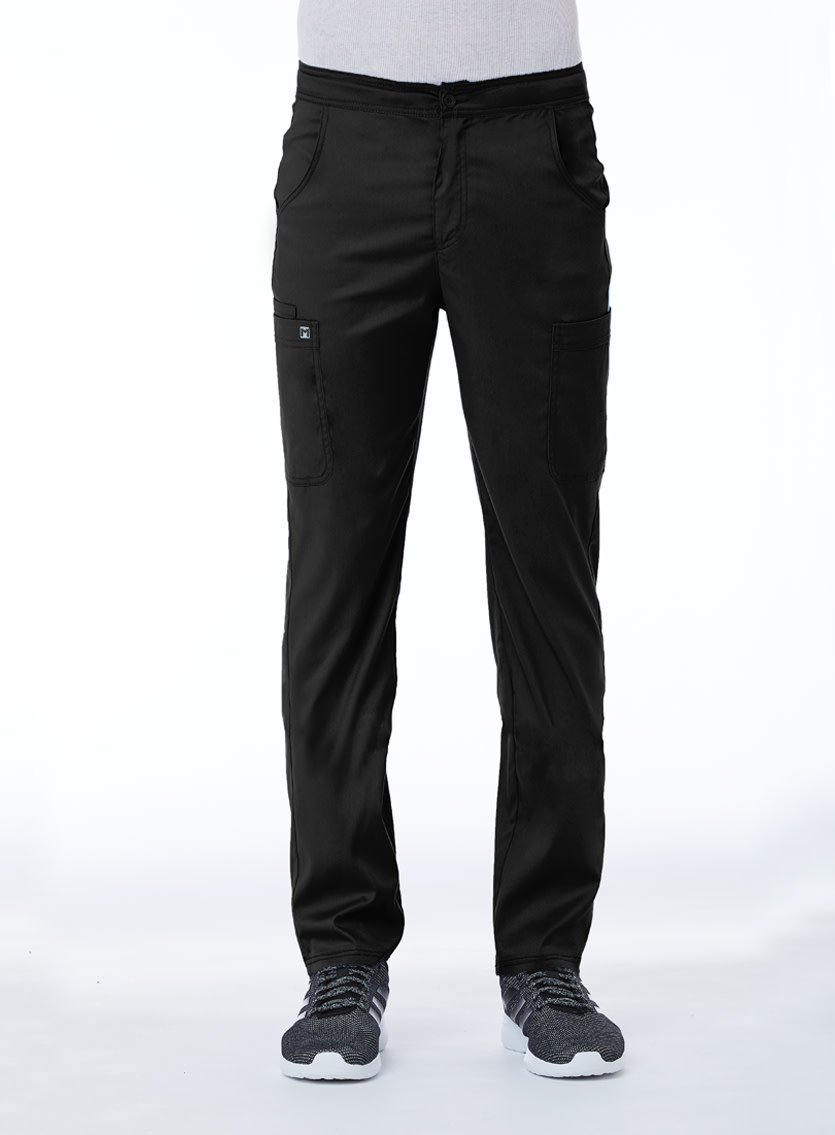 Matrix Men's Black Men's Half Elastic Waistband Cargo Pant 8502