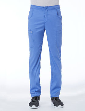 Matrix Men's Ciel Blue Men's Half Elastic Waistband Cargo Pant 8502