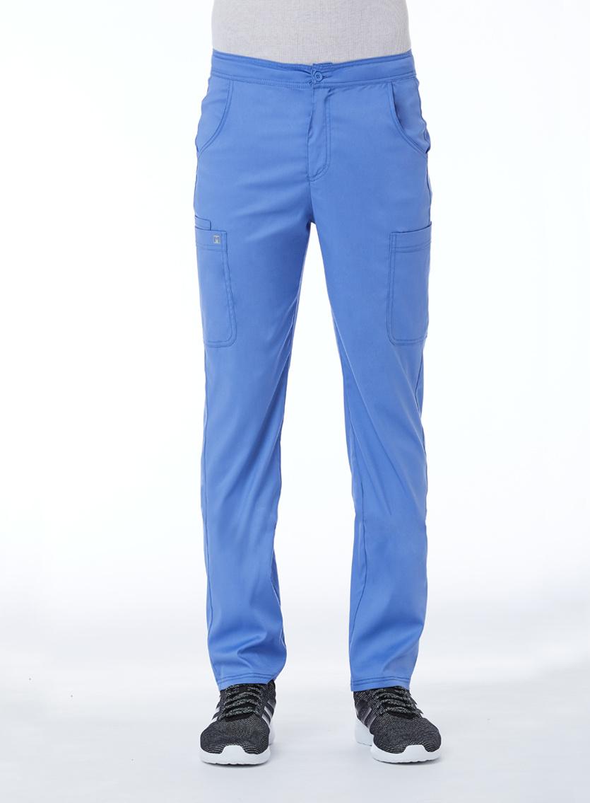 Matrix Men's Ciel Blue Men's Half Elastic Waistband Cargo Pant 8502