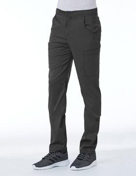 Matrix Men's Matrix Pewter Grey Men's Half Elastic Waistband Cargo Scrub Pants 8502