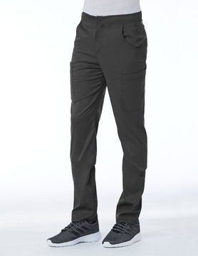 Matrix Men's Pewter Grey Men's Half Elastic Waistband Cargo Pant 8502