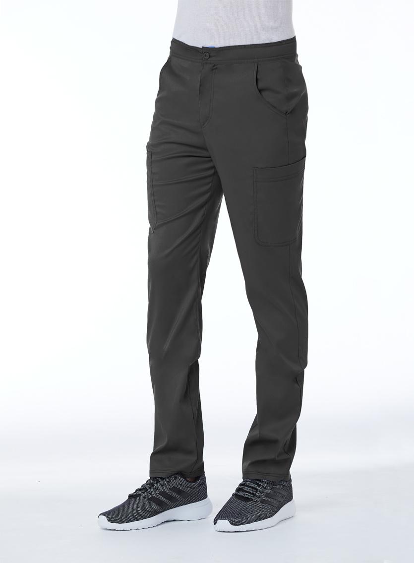 Matrix Men's Pewter Grey Men's Half Elastic Waistband Cargo Pant 8502