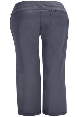 CHEROKEE Pewter Grey Low Rise Straight Leg Women's Drawstring Petite Pants 1123AP