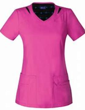 SAPPHIRE SCRUBS Sapphire Pink Women's Scrub Top SA601A