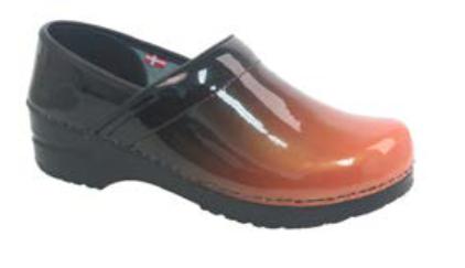 SANITA Sanita Prof Milan Orange Shoes