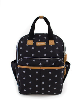 READY GO Mini Backpacks Black/White Polka Dots NB007