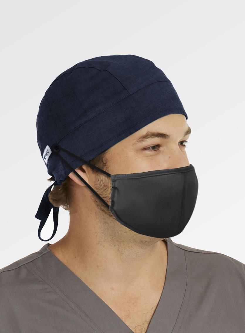 MAEVN Indigo Blue Scrub Hat With Buttons NC015