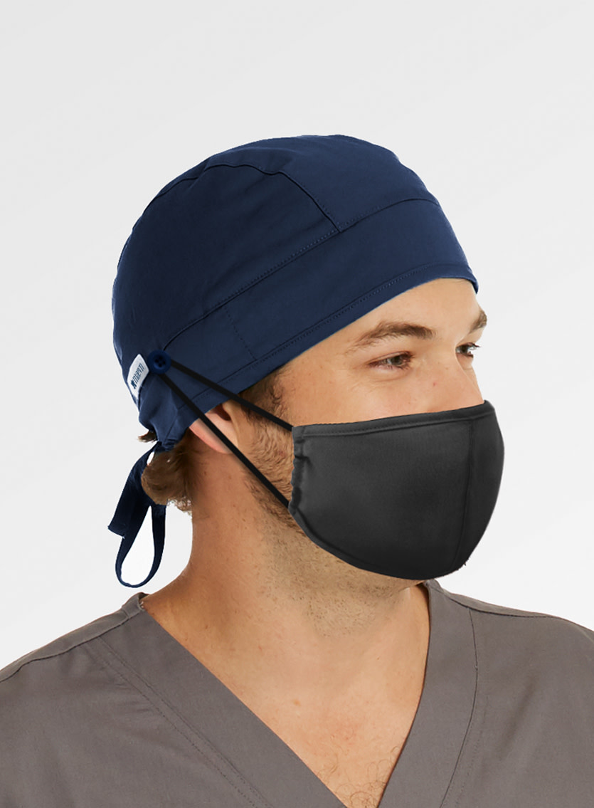MAEVN Pure Navy Scrub Hat With Buttons NC015