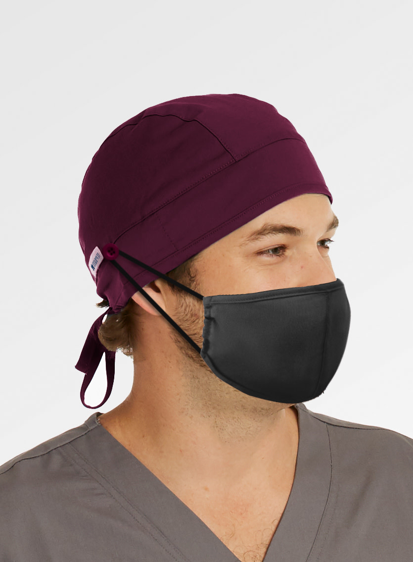 MAEVN Wine Scrub Hat With Buttons NC015