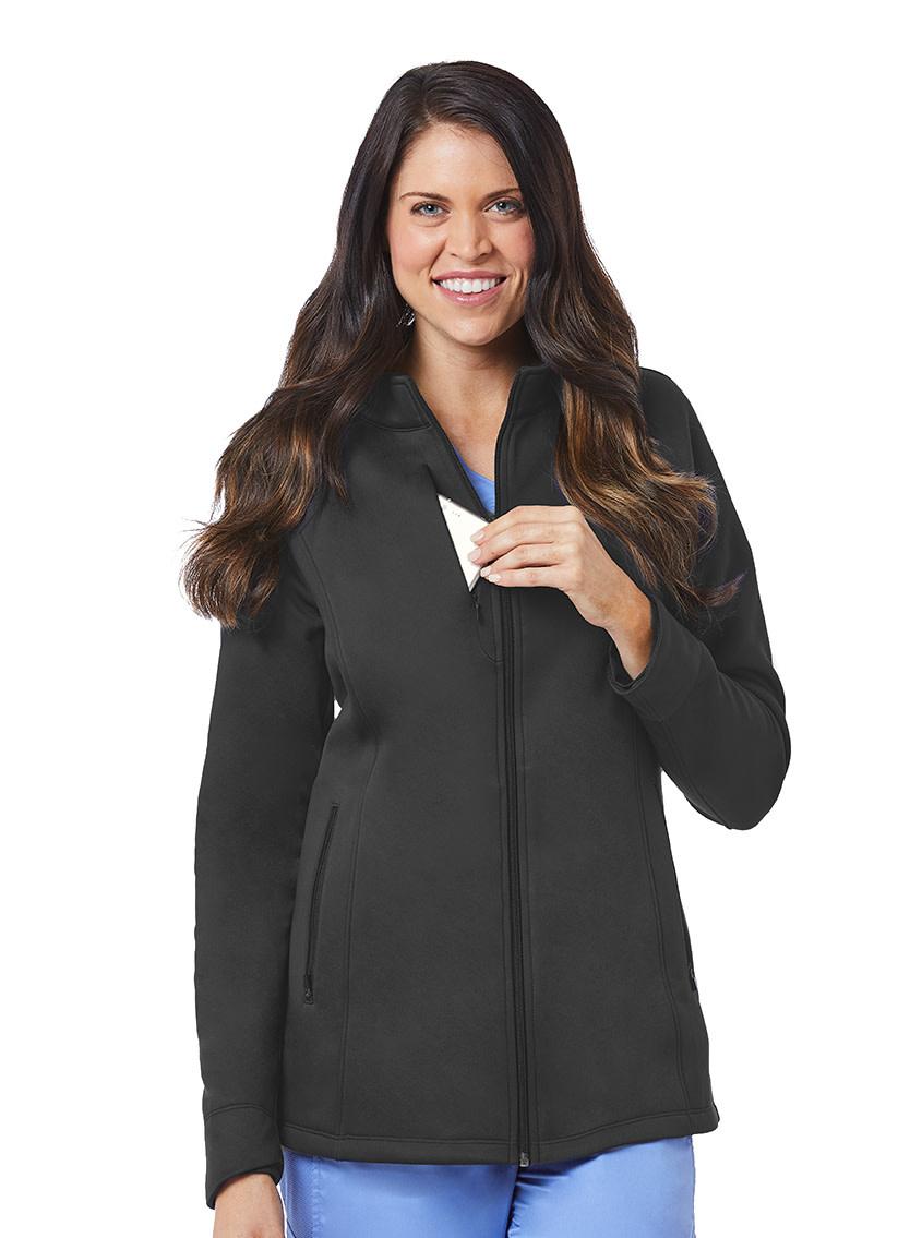 BLAZE Pewter Grey Blaze Women's Warm Up Jackets 3812