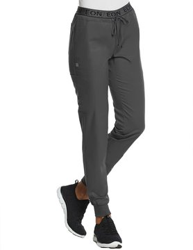 EON Sports Charcoal Sporty Full Elastic Logo Waist Jogger Pants 7378