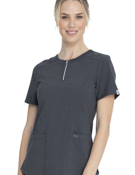CHEROKEE Round Neck Top Heather Charcoal CK926A
