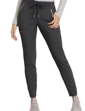 CHEROKEE Cherokee Pewter Grey Women's Drawstring Tall Scrub Pants CK055T