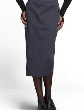CHEROKEE WORKWEAR Cherokee Pewter Grey Knit Waistband Scrub Skirt  WW510