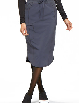 "CHEROKEE Cherokee 30"" Pewter Grey Drawstring Scrub Skirt CK505A"