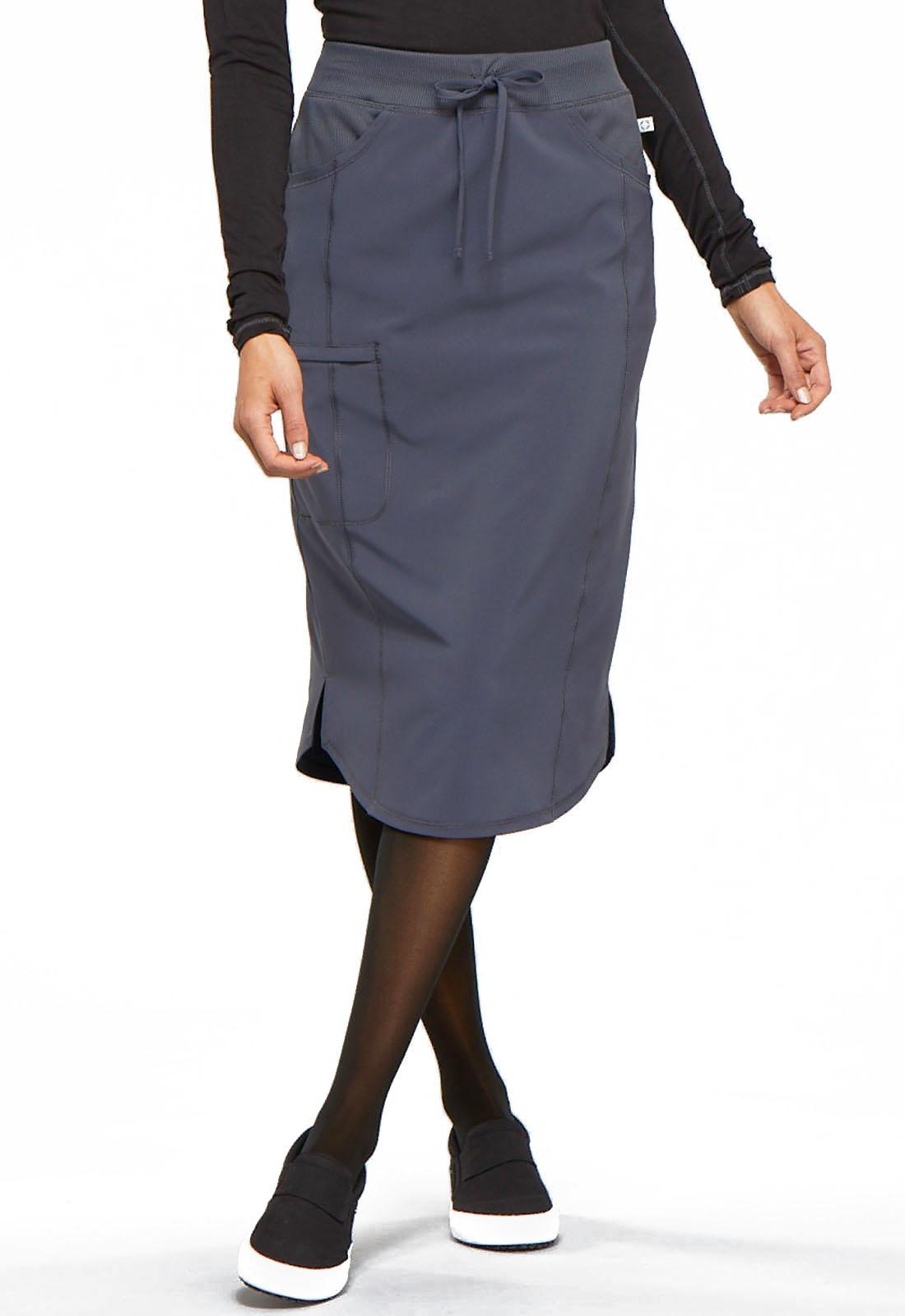 "CHEROKEE 30"" Drawstring Skirt Pewter Grey CK505A"