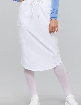 """CHEROKEE 30"""" Drawstring Skirt White CK505A"""