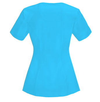 CHEROKEE Turquoise Women's Round Neck Top 2624A