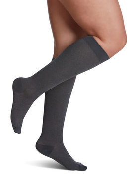 830 Style Microfiber Patterns Calf Sigvaris Compression Stockings Graphite Heather (27)