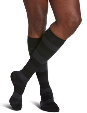 830 Style Microfiber Patterns Calf Sigvaris Compression Stockings Onyx Stripe (19)