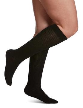 146 Women's Casual Cotton 15-20mmHg Black (99)