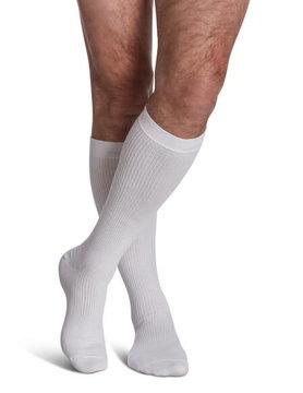 186 Men's Casual Cotton 15-20mmHg White (00)