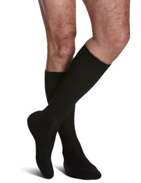 182 Men's Cushioned Cotton 15-20mmHg Black (99)